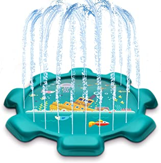 "MeiGuiSha 75"" Gear Outdoor Water Sprinkler Pad for Kids, Splash Pad, and Wading Pool"
