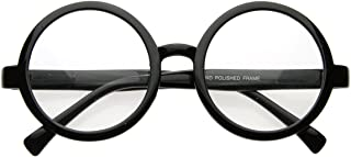 Vintage Inspired Eyewear Round Circle Clear Lens Glasses Eyeglasses (Black)