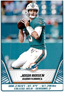 2019 Panini NFL Stickers Football #51 Josh Rosen Miami Dolphins Official Sticker Collection Collectible (paper thin and small size)