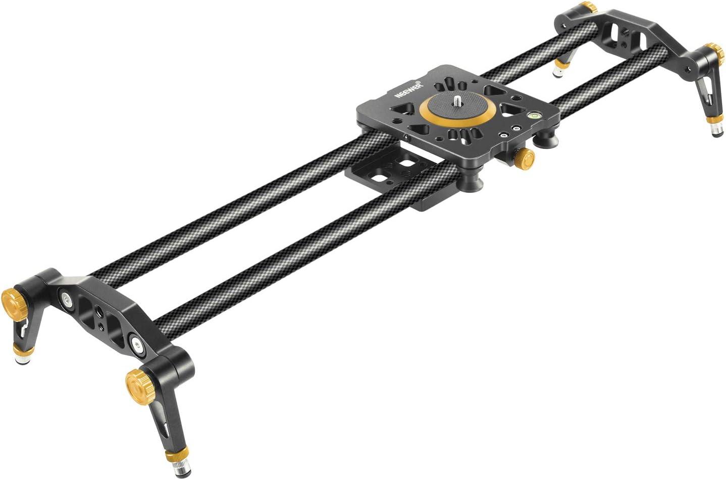 Neewer - Riel estabilizador de Fibra de Carbono con 6 rodamientos para cámara DSLR, videocámara Digital, para Grabar, 100 cm, soporta hasta 8 kg