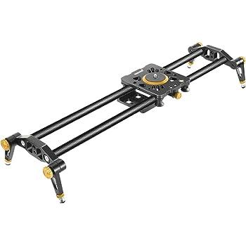 Neewer Binario Slider Dolly Stabilizzatore a Rotaia 80cm in Fibra al Carbonio con 6 Cuscinetti per Produzioni di Filmati via Reflex Digitali Videocamere, Massima Capacità di Carico 8KG