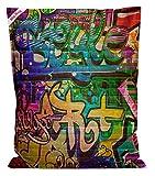 lifestyle4living Sitzsack Big Bag Graffiti, Rückseite in blau, 380 l Volumen, Maße: B/H/T ca. 130/170/20 cm