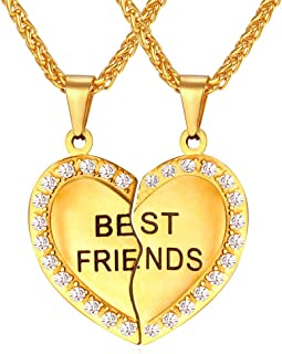 friendship half heart necklaces
