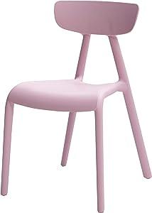 AmazonBasics, Pink, Stackable Kids Chairs, Premium Plastic, 2-Pack