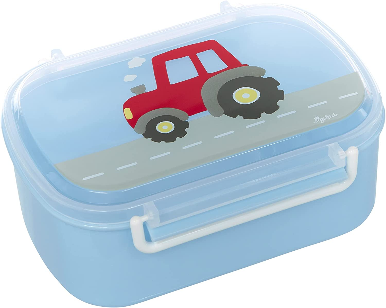 SIGIKID 25200 - Fiambrera para niños y niñas, diseño de tractor, sin BPA, recomendada a partir de 2 años, color azul y rojo