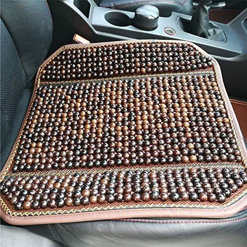 Xljh Automobiles Stoelhoezen Natuurlijke Esdoorn Houten Kraal Auto Stoel Kussen Massage Ademende Koele Milieu Stoel Mat Voor Auto Kantoor