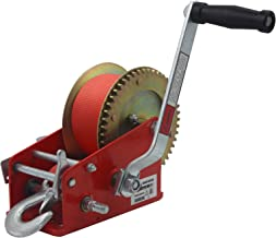 OPENROAD 3500lbs Hand Winch Boat Trailer Winch, Manual Winch with 10m(32ft) Strap Crank..