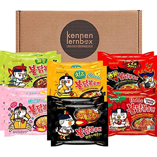 Samyang BULDAK Ramen 12er MIX | Kennenlernbox | Korean Hot Chicken Ramen 12er Mix om te proberen