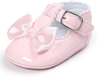 ZEZKT Sandales pour B/éb/é Fille Chaussures Premiers Pas pour B/éb/é Fille Chaussures de B/éb/é Antid/érapant Mode Bottines pour Enfants Occasionnel Chaussures avec Noeud Papillon