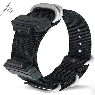 Gazelle Trading 22mm Replacement Nylon Watch Band Strap for Casio Men Women G-Shock GA-110/100/120/150/200/300/400 GD-100/110/120 G-8900 DW-5600 GW-M5610 DW-6900 G-5600 GW-6900 DW-9052 GLS-8900
