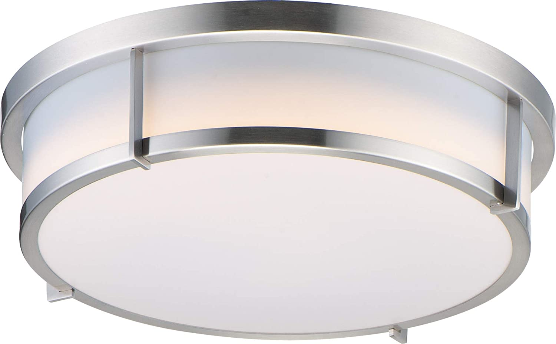 Maxim 10274WTSN Rogue New life JA8 Compliant Flush Drum LED Polycarbonate Direct stock discount