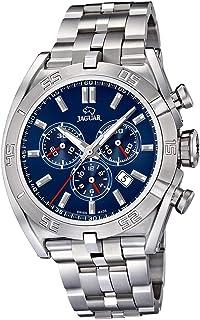 JAGUAR - Reloj Modelo J852/3 de la colección Executive, Caja de 45,8 mm Azul con Correa de Acero para Caballero