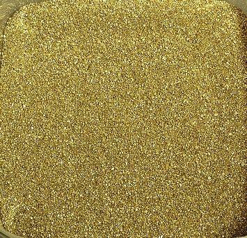 Gekleurd zand, decoratief zand metallic ca. 0,5 mm. 1 kg in goud geelgoud -41
