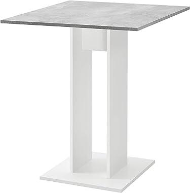 [en.casa] Table à Manger de Forme Carrée Table Design pour Salle à Manger Cuisine Salon Panneau de Particules Mélaminé 65 x 6