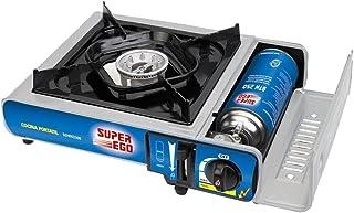 SUPER EGO SEH003300 Cocina cartucho gas portátil, Gris,