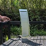 Köhko Terrassenbrunnen 23013 aus Edelstahl Höhe ca. 110 cm Wasserspiel Gartenbrunnen mit LED-Beleuchtung