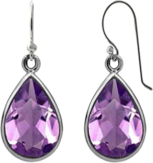 Sterling Silver 3.0 CTW Pear-Shaped Drop Dangle Earrings for Women