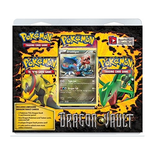 Pokemon Druddigon Card Game Dragons Vault Special Edition 3-Pack [1 Booster Packs & 1 Promo Card]