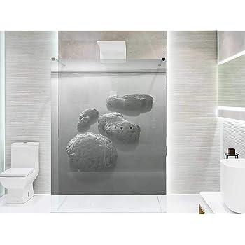 Vinilo para Mamparas baños Bambú Flores |Varias Medidas 185x70cm | Adhesivo Resistente y de Facil Aplicación | Pegatina Adhesiva Decorativa de Diseño Elegante|: Amazon.es: Hogar