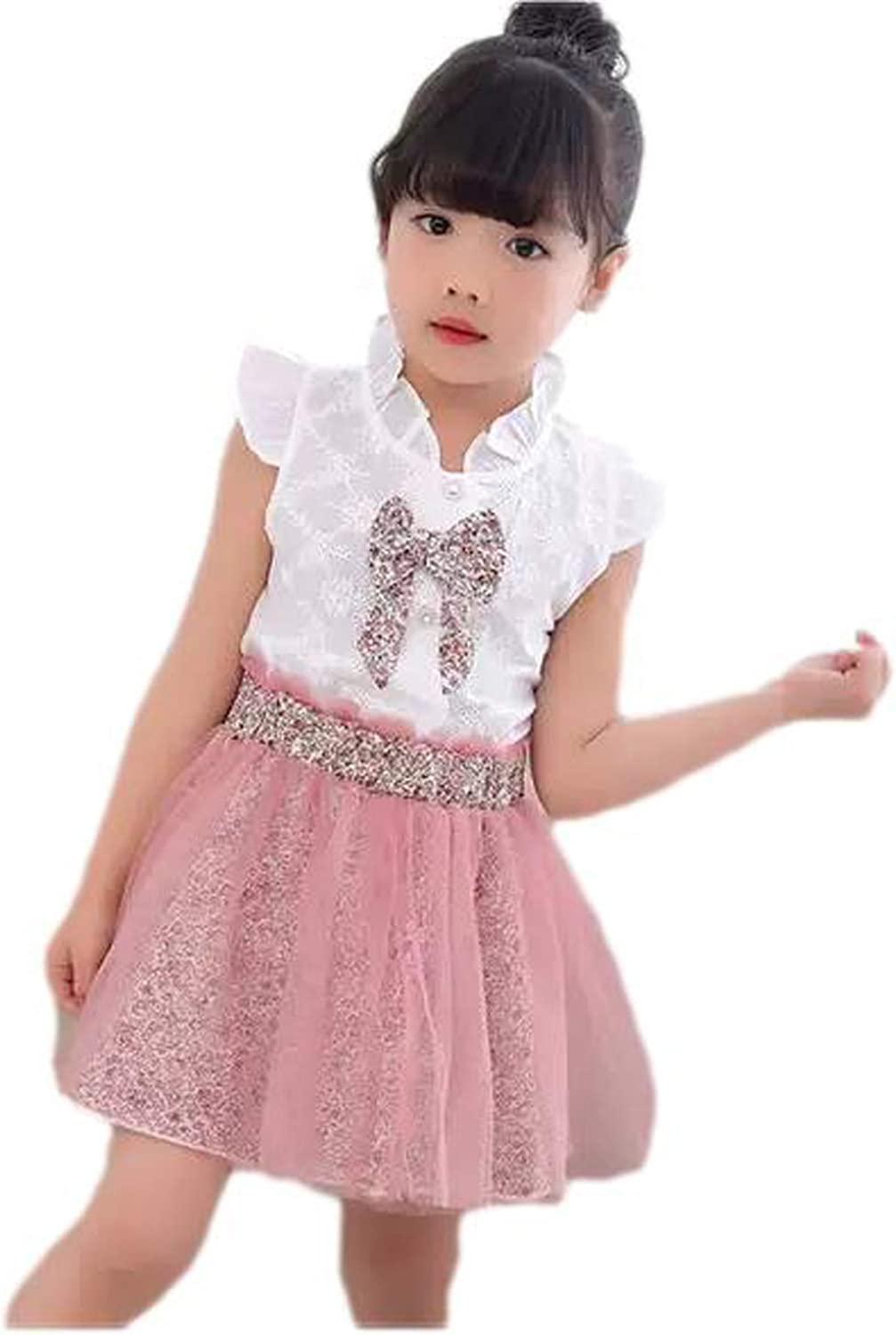 Aianger Toodle Girls Outfits Summer Holiday Sleeveless Ruffle Tank Top and Tutu Floral Skirt Set: Clothing, Shoes & Jewelry