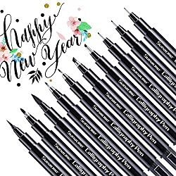top 10 calligraphy pens Calligraphy pen, lettering pen, calligraphy pen for beginners, for writing, 10 sizes …