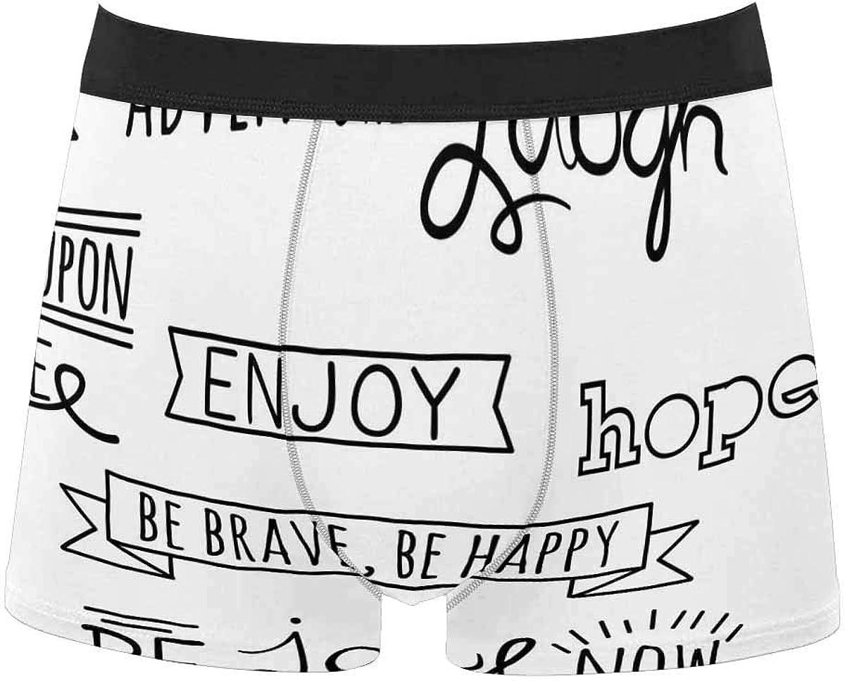 InterestPrint Breathable Polyester Boxer Briefs Underwear for Mens Juniors Halloween Red Rose
