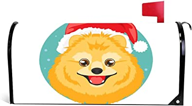 happygoluck1y Kerst-hond brievenbus Cover Magnetische Seizoensgebonden Kerstmis Winter Mailbox Wrap Cover Tuin Yard Decor ...