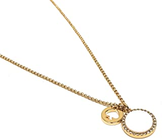 Kate Spade Spot The Spade Pearlescent Pave Charm Pendant Necklace, Cream
