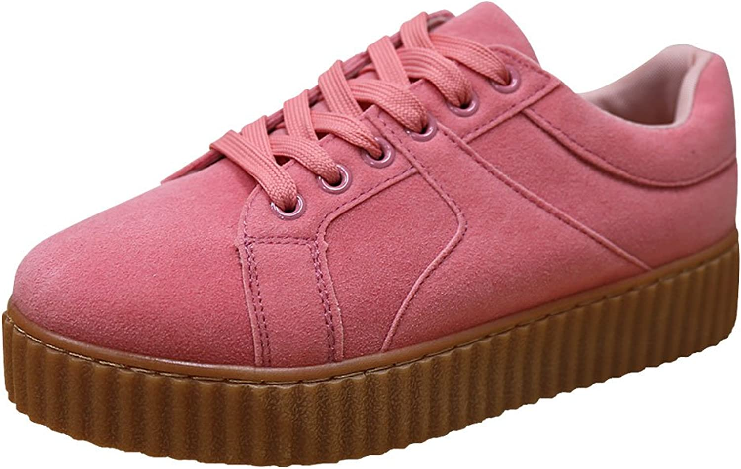 Han's Women's Fashion Platform Flatform Creeper Trainer Sneaker