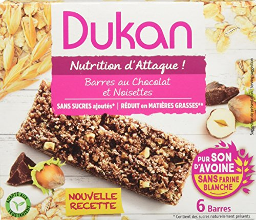Dukan Barres de Son d'Avoine Saveur Chocolat-Noisette 150 g