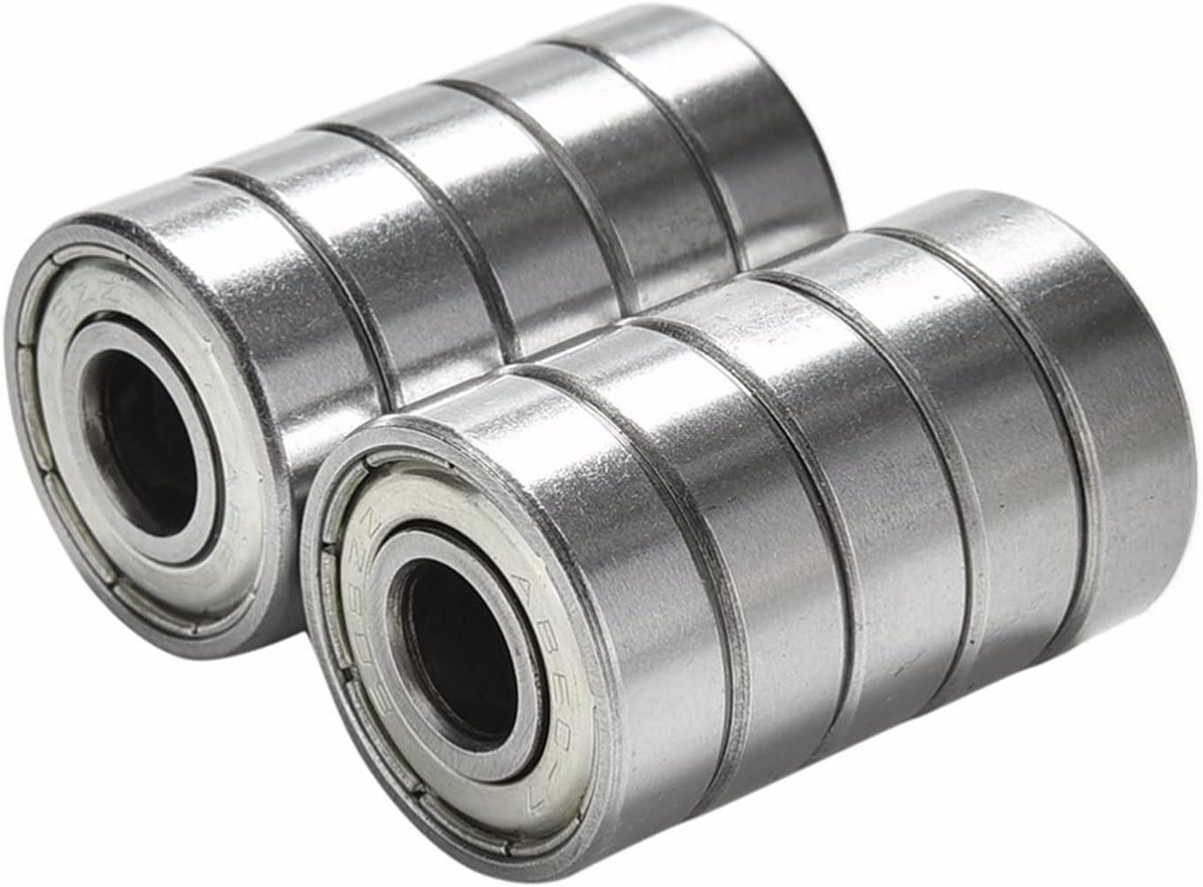 Super sale HHKHFA 10PCS lot ABEC 7 608ZZ Superior Ro Bearings Shafts Steel Stainless