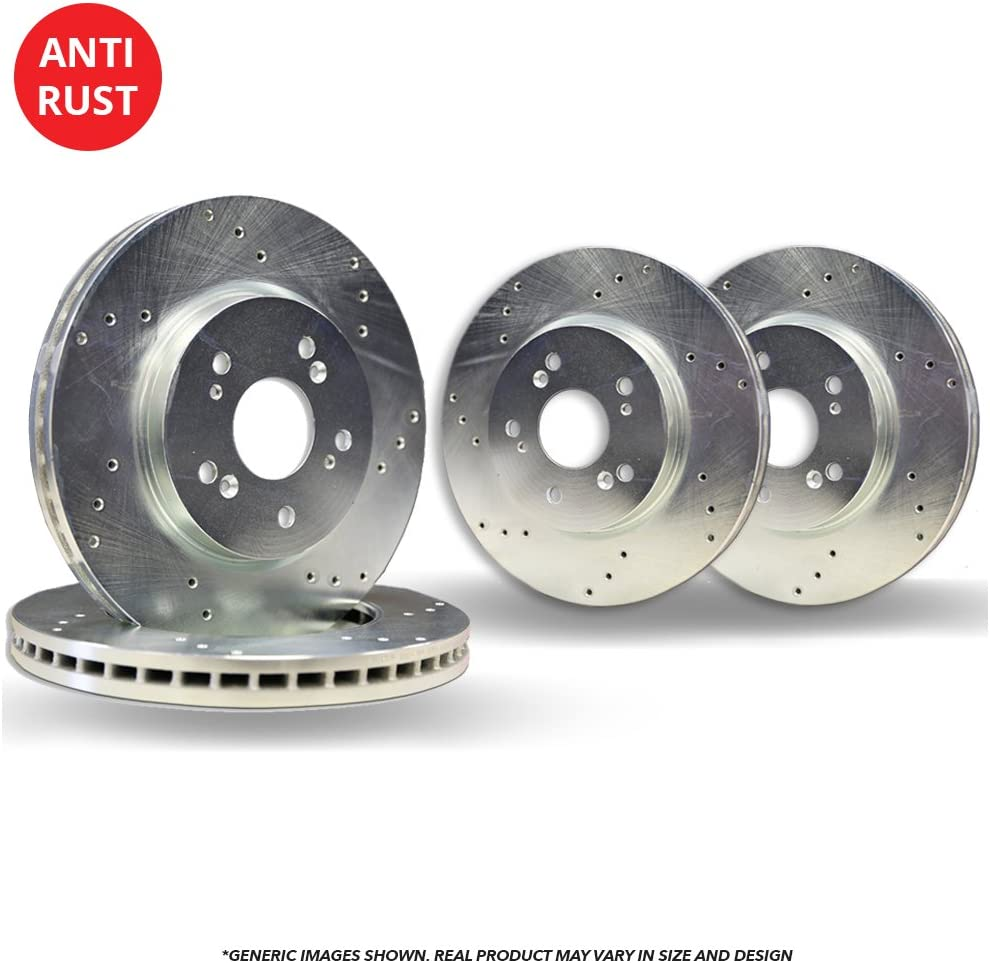 F+R Rotors Heavy New Orleans Mall Tough-Series 4 Cross-Drilled 40% OFF Cheap Sale D Silver Coated