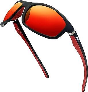 JOJEN Polarized Sports Sunglasses for Men Women TR90...