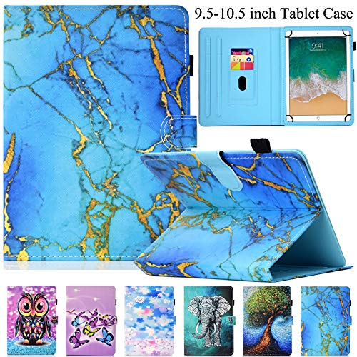 Universal Case for 9.5'-10.5' Tablet, Artyond PU Leather Cover Slim Fit Folio Cards Slots Case for All Fire HD 10, iPad 9.7 and More 9.6' 9.7' 10.1' 10.5' Android iOS Tablet (Blue Marble)