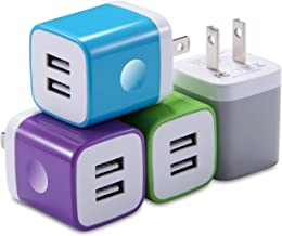 X-EDITION USB Wall Charger, Charging Block 4-Pack 2.1A Dual Port USB Power Adapter Wall Charger Plug Cube Compatible with Phone Xs Max XR X 8 7 6 Plus 5 4, Pad, Samsung, LG, Moto, AndroidMore