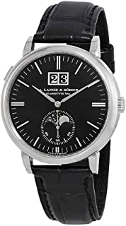 A. Lange & Sohne Saxonia Moon Phase Automatic Black Dial Men's Watch 384.031