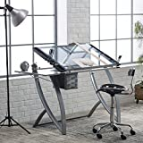 Studio Designs Futura Advanced Drafting Table with Side Shelf