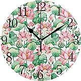 Cy-ril Reloj de Pared números arábigos diseño Lotus Reloj de Pared Redondo para Sala de Estar baño hogar Decorativo