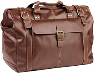 Boconi Bryant Safari Bag (Antiqued Mahogany with Houndstooth)
