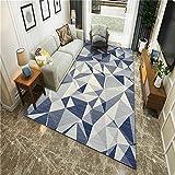 alfombra juvenil dormitorio gris Alfombra de estilo moderno con patrón de triángulo gris alfombra de salón suave resistente al desgaste alfombra protectora silla oficina 100X160CM alfombras para pasil