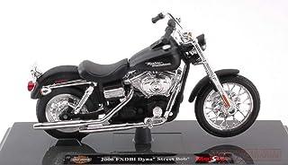 Maisto MI15966 Harley Davidson 2006 FXDBI DYNA Street Bob Matt Black 1:18 Model Compatible con