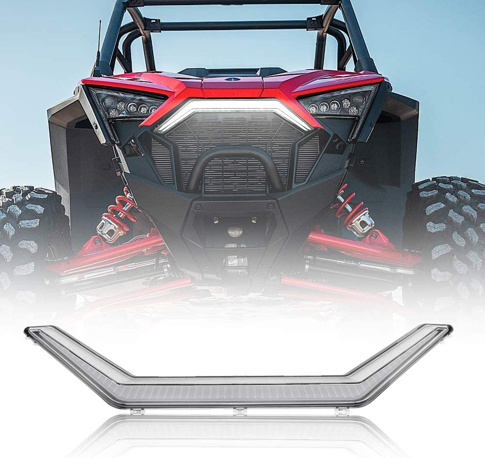 kemimoto RZR PRO XP 2021new shipping free Front Accent Grill LED Light Luxury Center C