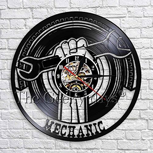 Mecánico de discos de CD clásico disco de vinilo creativo decoración de reloj de pared LED antiguo reloj de pared de arte retro decoración de pared | reloj que cambia de color decoración fresca