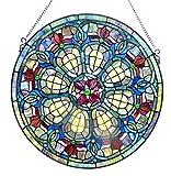 Chloe Glass Window Panel, One Size, Multicolor
