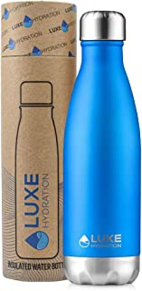 Luxe Hydration 17oz Travel Water Bottle - 18/8 304 Stainless Steel, Double Wall, Vacuum Insulated - Keep Drinks Cold for 2...