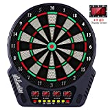 OMEILIA Electronic Dart Board, Dart Board Game Set Professional Dartboard with 4 LED Display Screen, 27 Games and 243 Variants 6 Darts, Spare Tips, for 16 Players