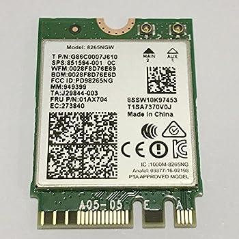Dual Band Wireless- AC 8265 8265AC NGFF Wifi Card USE FOR Intel 8265 AC AC8265 8265NGW M.2 NGFF 2.4/5GHz Bluetooth 4.2 Wireless WiFi Card 867 Mbps