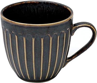 ブルーム マグカップ 孔雀 茶 直径9cm 60701