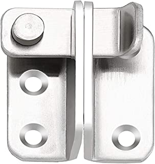 Gate Latches Flip Door Latch, 90 Degree Heavy Duty Latch Safety Door Lock,Stainless Steel Sturdy Padlockable Bolt Latch/Lock for Pet Gate,Cabinet Furniture, Wardrobe, Window