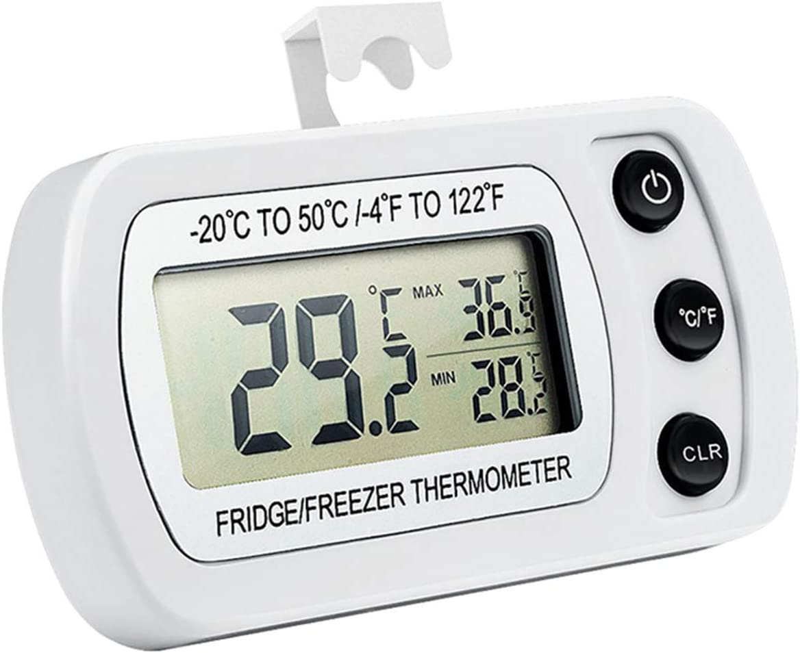 Ponacat Waterproof Refrigerator Thermometer Courier shipping free shipping Freez Digital Max 73% OFF Fridge
